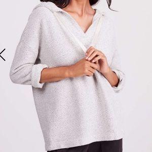 LOFT Lou & Grey tweet style knitted hoodie